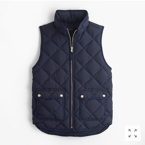 J Crew Excursion quilted down vest